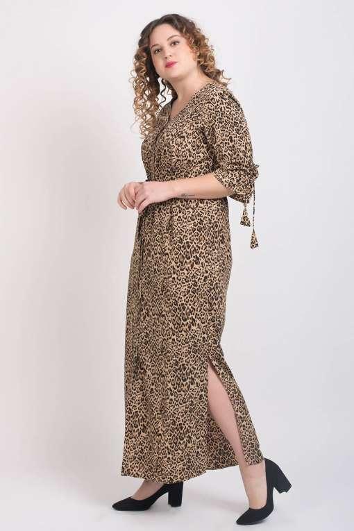 Leopard Print Maxi Dress4