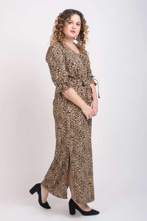 Leopard Print Maxi Dress5