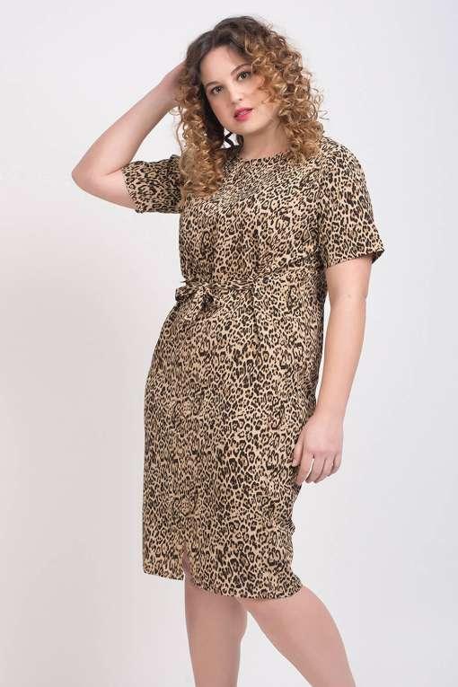 Leopard Print Middi Dress
