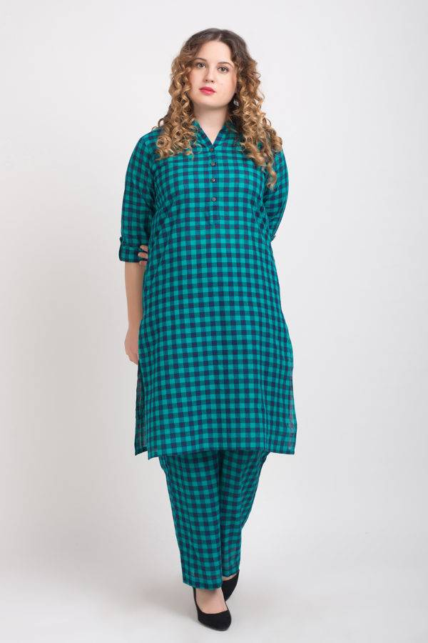Checks Long Kurta 9