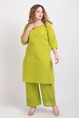 Solid Green Handloom Cotton Kurti2