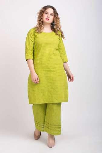 Solid Green Handloom Cotton Kurti3