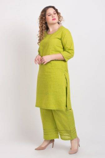 Solid Green Handloom Cotton Kurti4