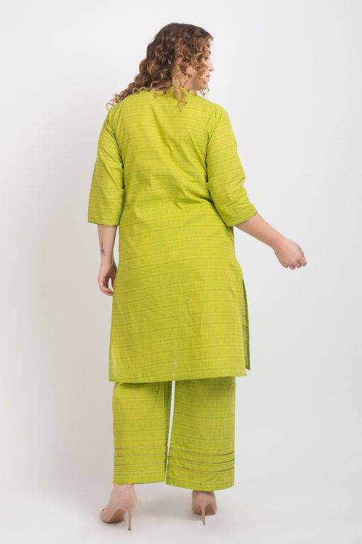 Solid Green Handloom Cotton Kurti6