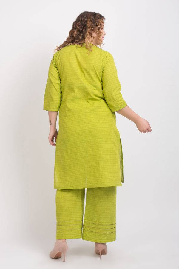 Solid Green Handloom Cotton Kurti6