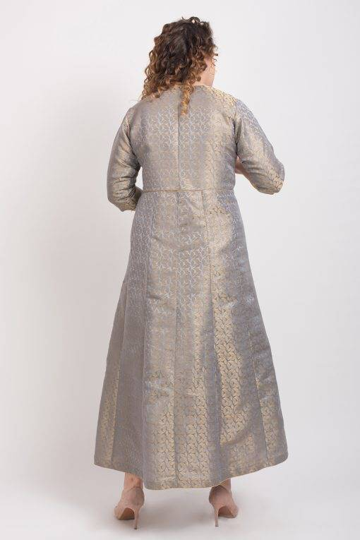 Brocade Anarkali Grey 7