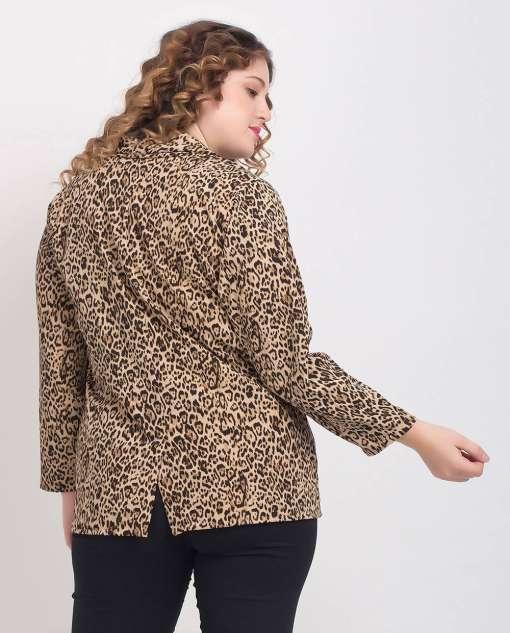 Leopard Print Blazer1