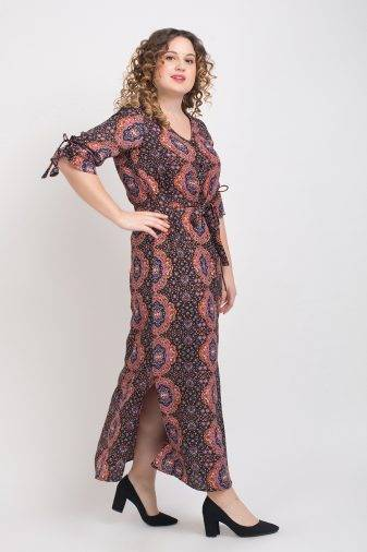 Brown Front Open Maxi Dress6