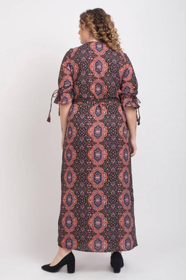 Brown Front Open Maxi Dress7