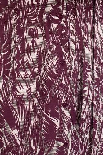 Wine Printed Maxi Dress5