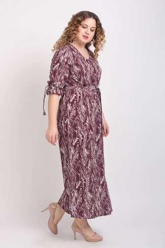 Wine Printed Maxi Dress6