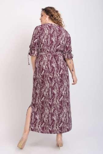 Wine Printed Maxi Dress7