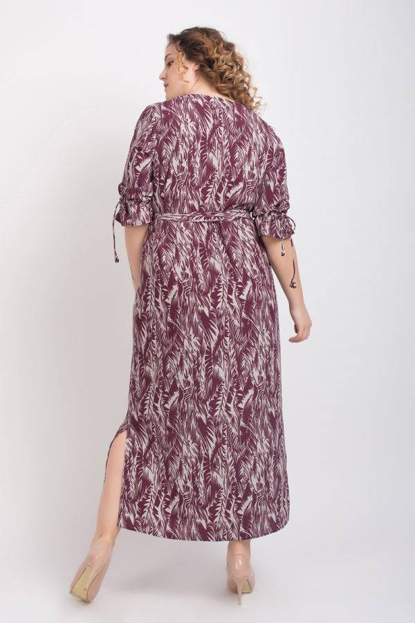 Wine Printed Maxi Dress7