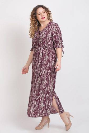 Wine Printed Maxi Dress8