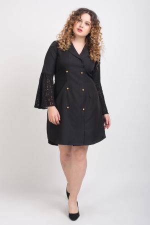 Trench Dress With Lace Sleeves2