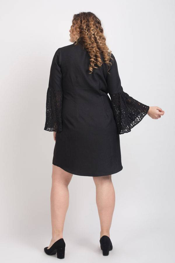 Trench Dress With Lace Sleeves6
