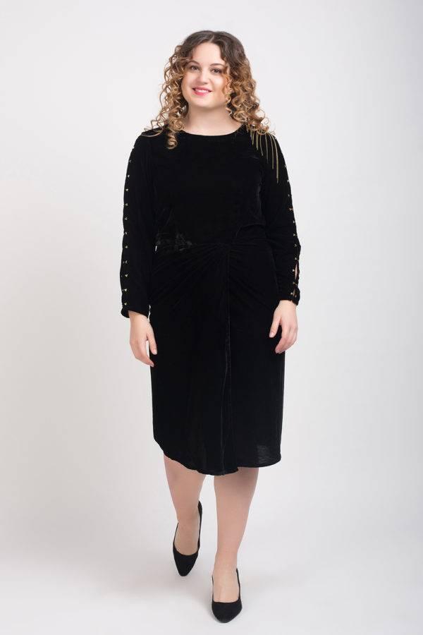 BLACK VELVET DRESS4