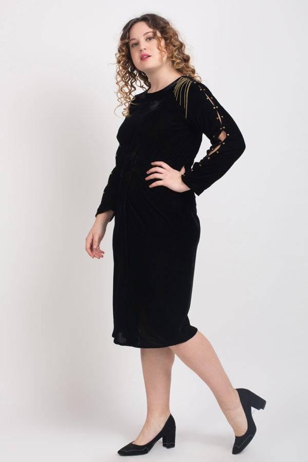 BLACK VELVET DRESS5