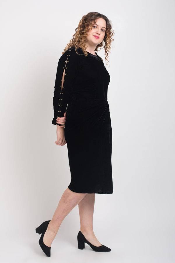 BLACK VELVET DRESS6