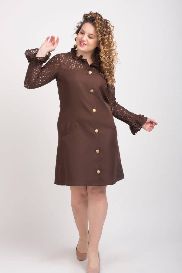 BROWN-LACE DRESS4