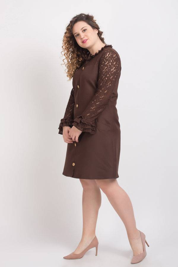 BROWN-LACE DRESS5