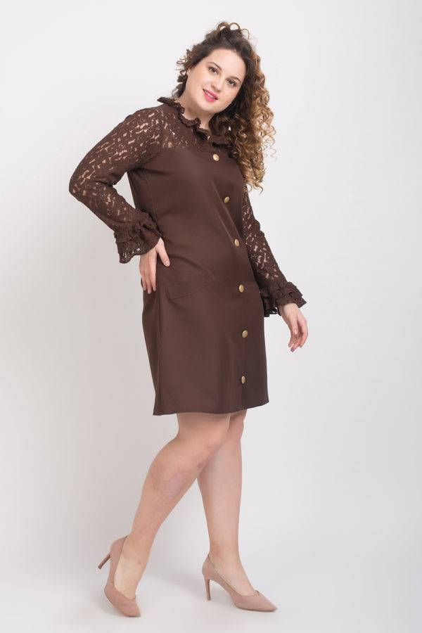 BROWN-LACE DRESS6