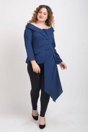 Blue Pearl Scattered Off Shoulder Shirt4