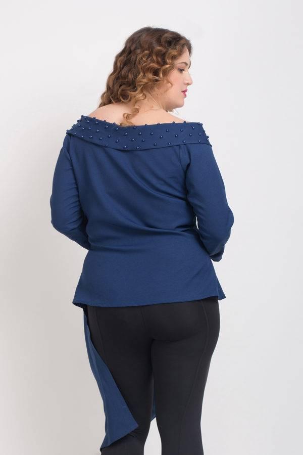 Blue Pearl Scattered Off Shoulder Shirt7