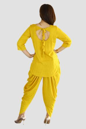 Yellow Dhoti Set1