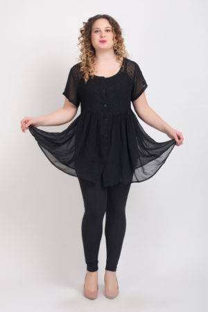 BLACK EMBROIDERED TUNIC2