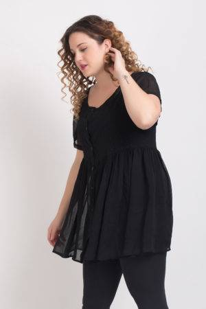 BLACK EMBROIDERED TUNIC24