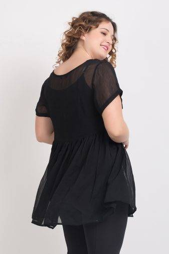 BLACK EMBROIDERED TUNIC25