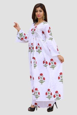 White Block Print Dress1