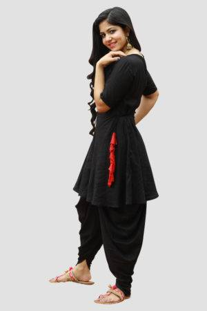 Black Dhoti Set1