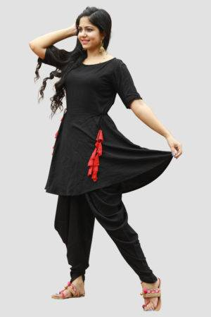 Black Dhoti Set4