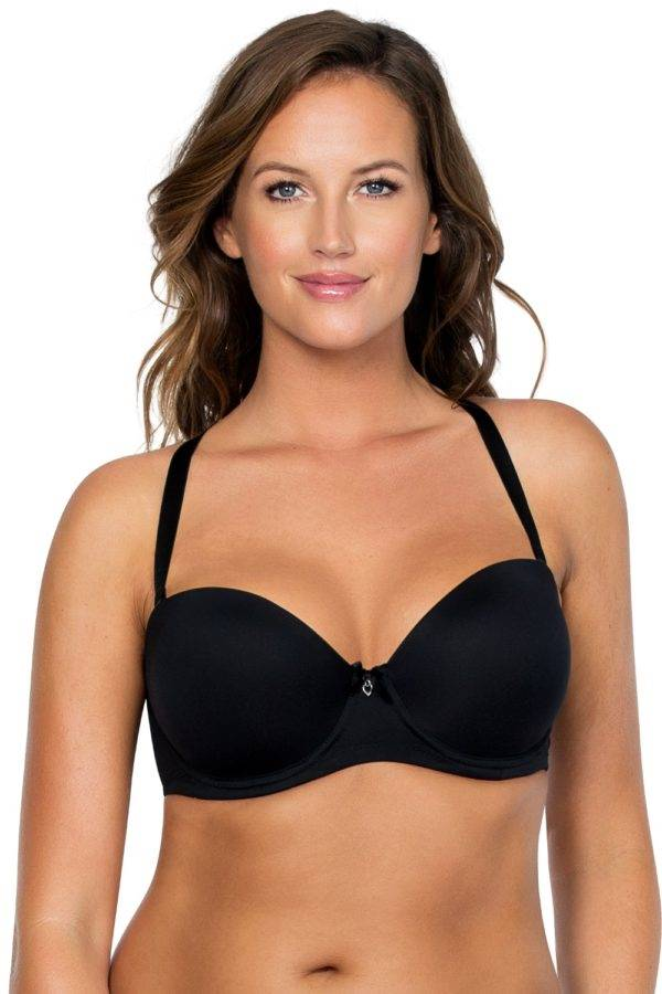 Jeanie_StraplessContourBra4815_Thong4804_Black_Cross_Front.1