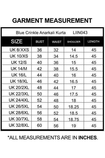 size chart-liin043