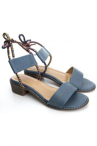 Suede Tie-Up Heeled Sandals2