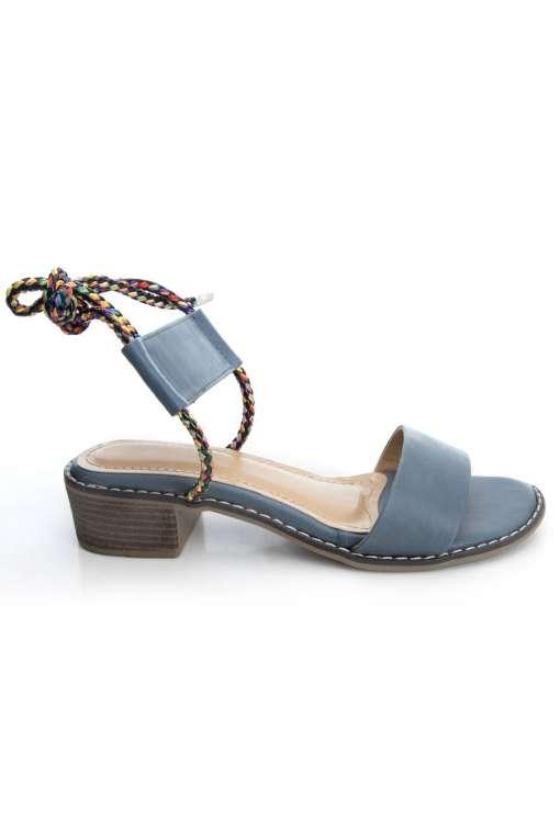 Suede Tie-Up Heeled Sandals3