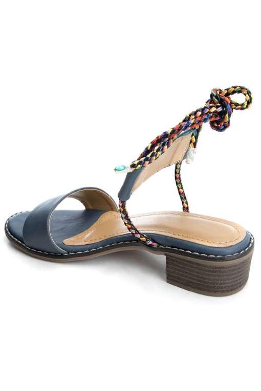 Suede Tie-Up Heeled Sandals4