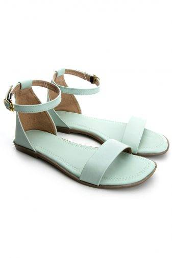 Green Fashion Strap Flat Sandals12
