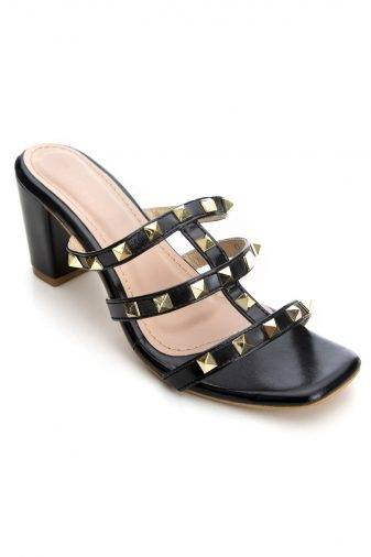 Women's Fashion Studded Block Heels1