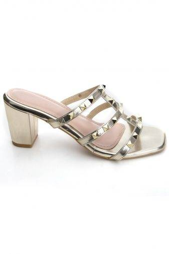 Women's Fashion Studded Block Heels3