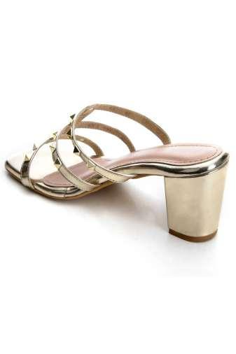 Women's Fashion Studded Block Heels4