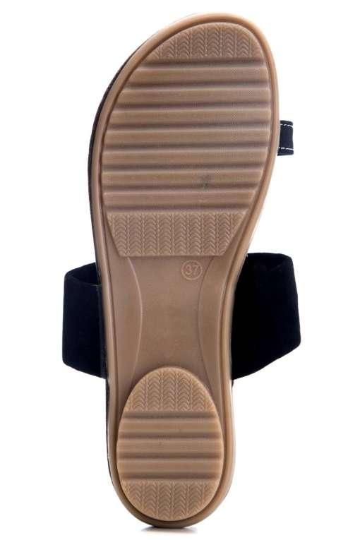 Black Suede Studded Flat Sandals5