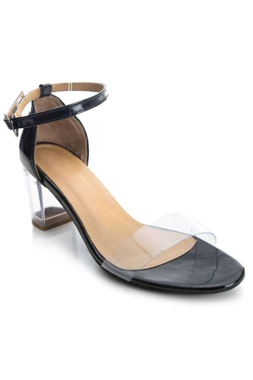 Perspex Block Heel Sandals1