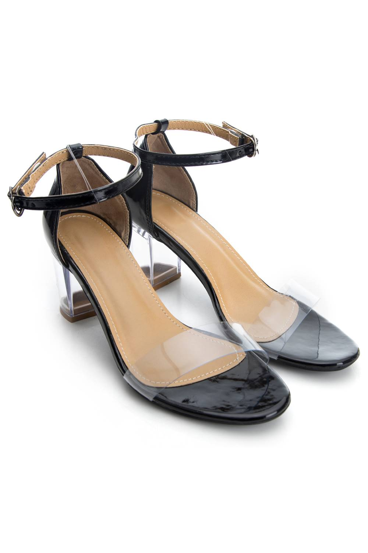 Perspex Block Heel Sandals2