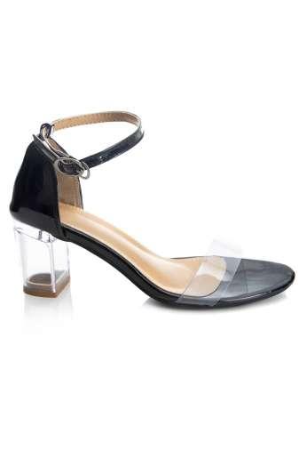 Perspex Block Heel Sandals3