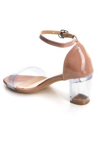Perspex Block Heel Sandals4