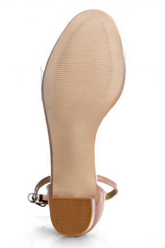 Perspex Block Heel Sandals5